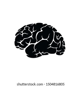 Brain brainstorm biology vector icon for web and mobile