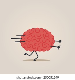 Brain character in the run