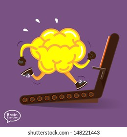 Brain charactor vector design fitness for smart brain with running