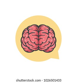 Brain chat logo design