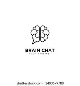 Brain Chat Logo Design Template