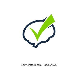 Brain Check Logo Design Template
