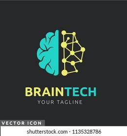 Brain & circuit Logo/Icon