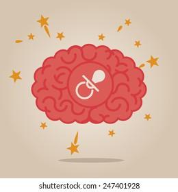Brain concept illustration: new born