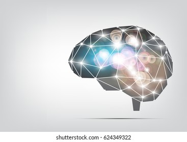 Brain, the concept of thinking. Vector EPS.10