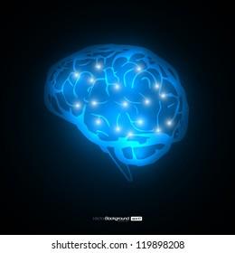 Brain Concept Vector Design | EPS10 Illustration