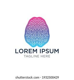 Brain Connection Logo Design Template
