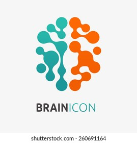 Brain, creation and idea icon and element. Vector illustration