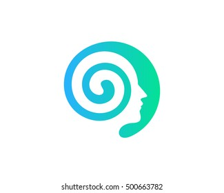 Brain Development Logo Design Template