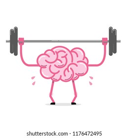Brain doing exercise in the gym