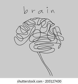 brain doodle hand drawn