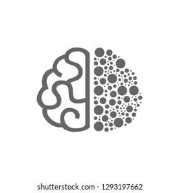 Brain dot education vector design concept