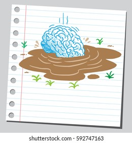 Brain drowning in quicksand