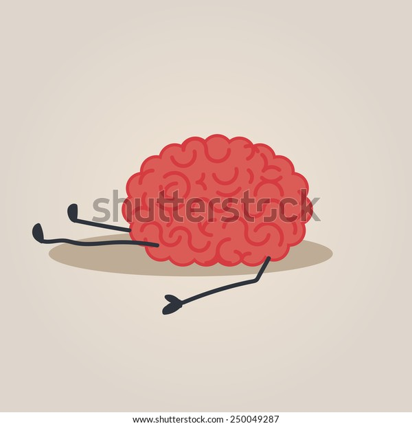 Brain fall into the ground