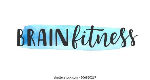 Brain fitness lettering logo