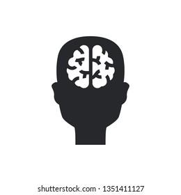 brain flat fector icon