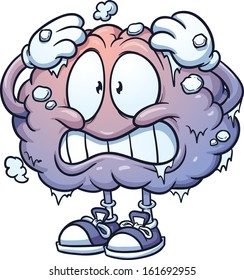 Brain freeze clip art. Vector cartoon illustration with simple gradients. All in a single layer.