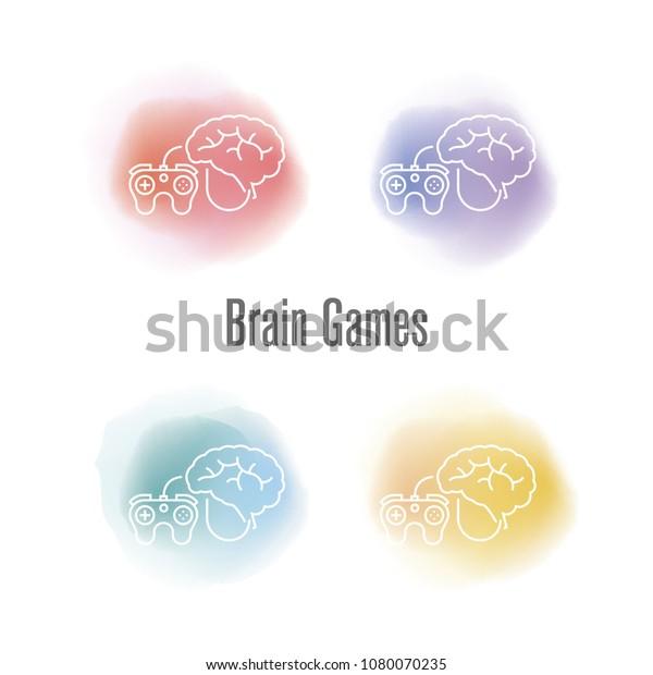 Brain Games Concept Stock Vector (Royalty Free) 1080070235