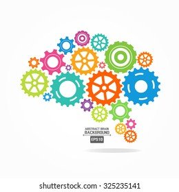 Brain gear colorful