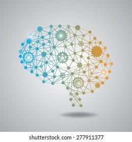 brain gear polygon