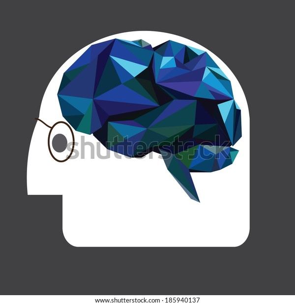 brain and head vector, scientist brain and knowledge background