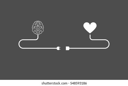 brain and heart  concept