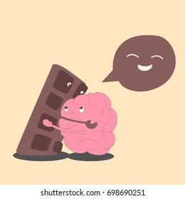 Brain hugs chocolate