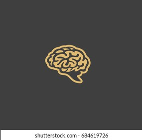Brain icon, knowledge and concept, growth, science vector illustration
