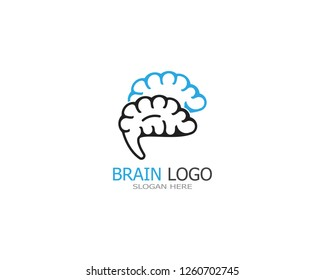 Brain icon logo design vector illustration