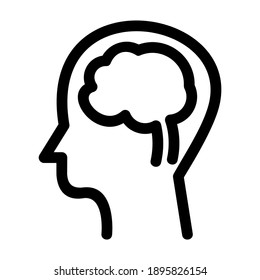 brain icon or logo isolated sign symbol vector illustration - high quality black style vector icons