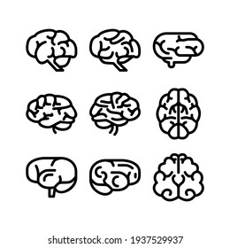 brain icon or logo isolated sign symbol vector illustration - Collection of high quality black style vector icons
