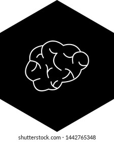 Brain Icon In Trendy Style Isolated Background