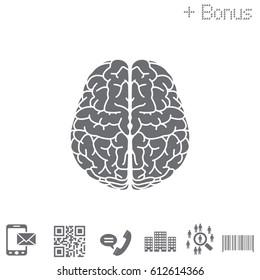 Brain icon. vector illustration