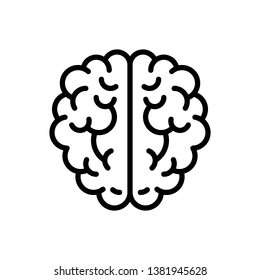 Brain Icon Vector Illustration Logo Template