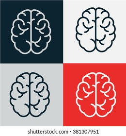 brain icon vector.logo design