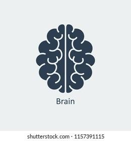 Brain Icon.Human organ. Vector design