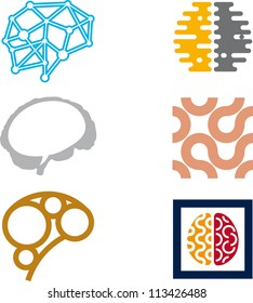 Brain icons. Vector art.