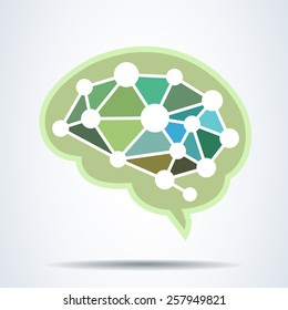 brain Idea concept .vector illustration