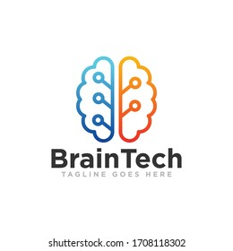 Brain Idea Logo Design Vector