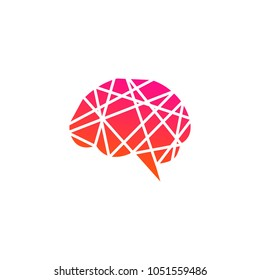 Brain Idea Logo Icon Template Design. Vector Illustration