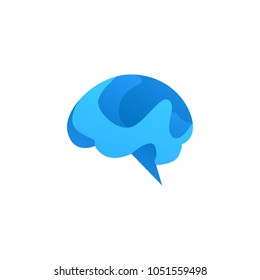 Brain Idea Logo Icon Template Design. Vector Illustration