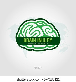Brain Injury Awareness Month Vector Illustration. Suitable for Greeting Card, Poster and Banner.