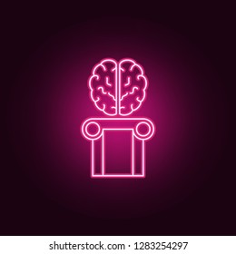 Brain intelligence, human brain icon. Elements of artifical in neon style icons. Simple icon for websites, web design, mobile app, info graphics