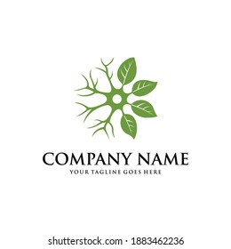 brain leaf logo template, Brain Natural Logo Design Inspiration Vector Stock With Tree Leaf Combination.