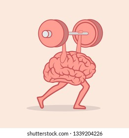 brain Lifting Weights over head