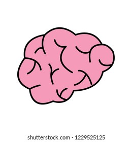 Brain Line Filled Icon