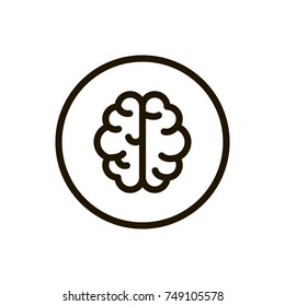 Brain  line icon. High quality black outline logo for web site design and mobile apps. Vector illustration on a white background.