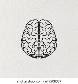 Brain line icon. vector illustration