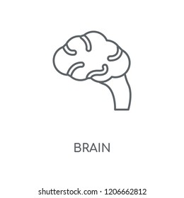 Brain linear icon. Brain concept stroke symbol design. Thin graphic elements vector illustration, outline pattern on a white background, eps 10.