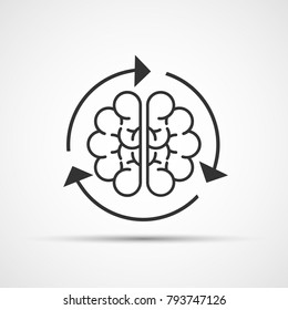 Brain loading. Vector illustration. Esp 10.